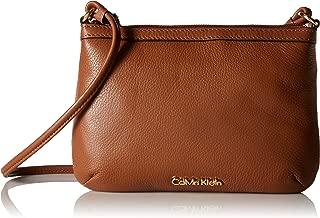 Calvin Klein Women's Lily Small Pebble Crossbody, Luggage