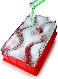 Reusable Ice Luge (Double Track) - Just Add Water, Freeze and Enjoy Within 24 Hours - A Perfect Center Piece To Any Party - The Best Way To Serve Cold Drinks