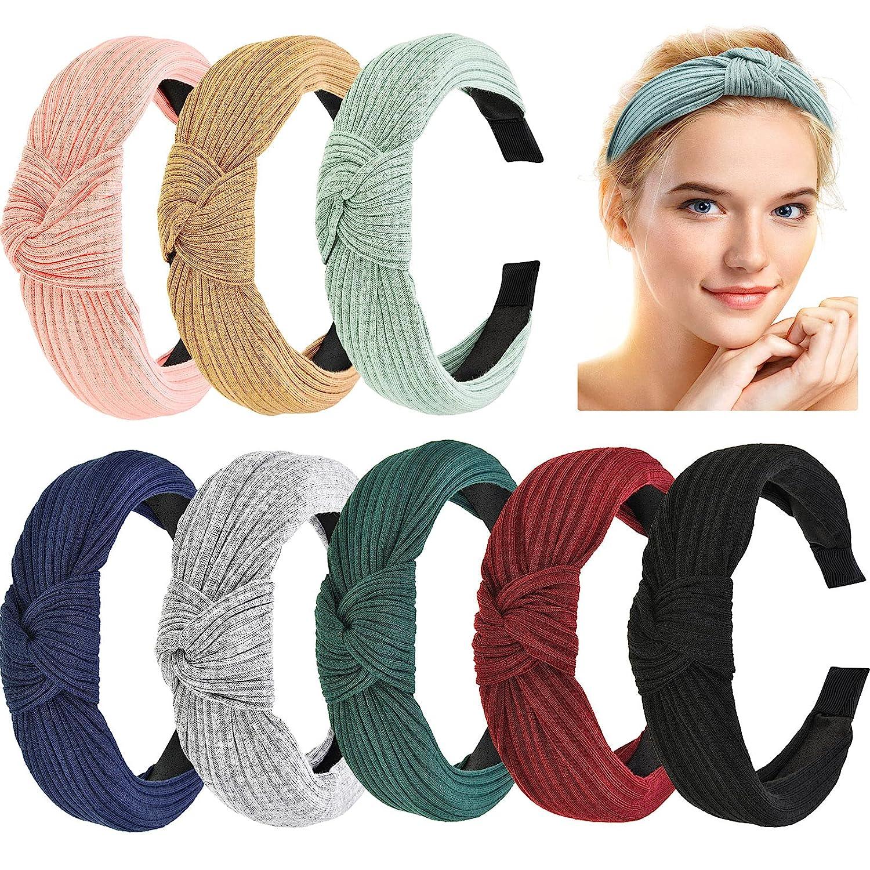 Maxdot 8 Pieces Wide Headbands Knot Headband Inexpensive for Turban Women Max 82% OFF Gi