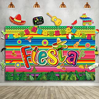 30 Pieces Fiesta Theme Party Decorations Photography Backdrop Studio Props Set for Mexican Dress-up Summer Fiesta Luau The...