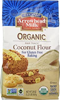 Arrowhead Mills Organic Fair Trade Coconut Flour, 20 Ounce (Pack of 6)