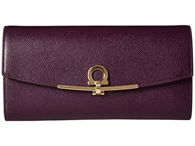 Salvatore Ferragamo Gancio Clip Mini Bag (Blackberry) Handbags
