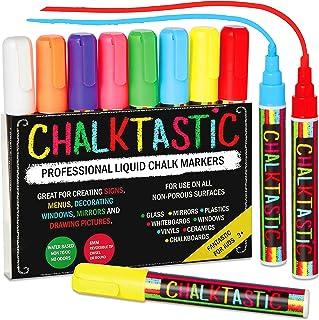 Chalk Markers by Fantastic ChalkTastic Best for Kids Art, Chalkboard Labels, Menu Board Bistro Boards, 8 Glass Window Mark...