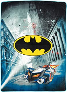"DC Comics Batman Blanket City Safe Throw Super Soft Plush Microfiber Twin/Full Size 62"" x 90"""