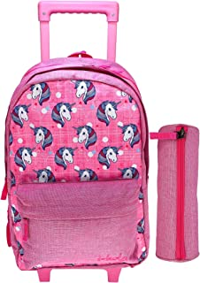 UNICORN SCHOOL TROLLEY BAG WITH BACKPACK FOR KIDS GIRL INCLUDE PENCIL CASE | 17 INCH