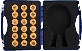 JOOLA Tour Carrying Case - Ping Pong Paddle Case with 18 40mm 3 Star Competition Ping Pong Balls and Space for Storing 2 Standard Table Tennis Rackets - Durable High Density Case with EVA Foam Lining