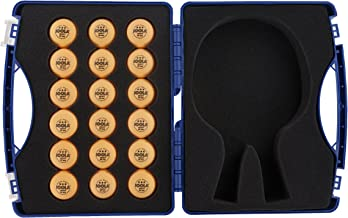 JOOLA Tour Carrying Case - Ping Pong Paddle Case with 18 40mm 3 Star Competition Ping Pong Balls and Space for Storing 2 S...
