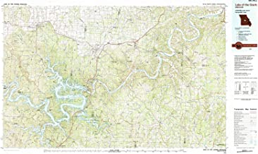 Missouri Maps - 1983 Lake of The Ozarks, MO USGS Historical Topographic Map - Cartography Wall Art - 60in x 36in
