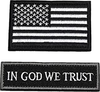 Tactical Morale Patch USA Flag Don't Tread On Me in God We Trust (Black(USA Flag+in GOD WE Trust))