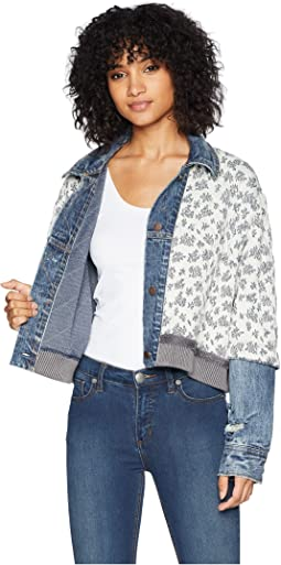 Free People Ditsy Denim Jacket