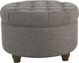 Cool Amazon Com Round Storage Ottomans Machost Co Dining Chair Design Ideas Machostcouk