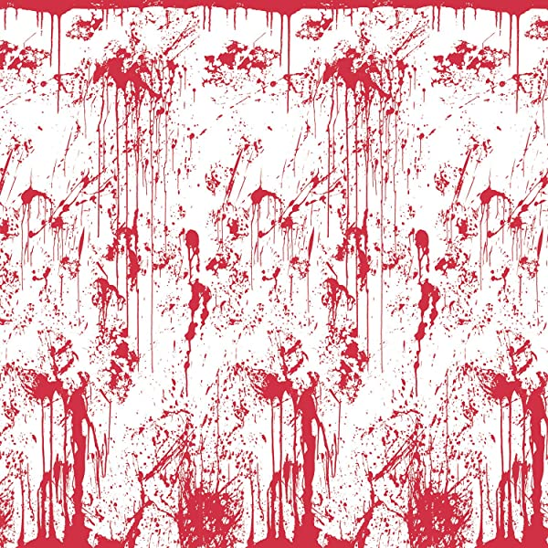 Beistle 00710 Bloody Wall Backdrop 4 Feet By 30 Feet