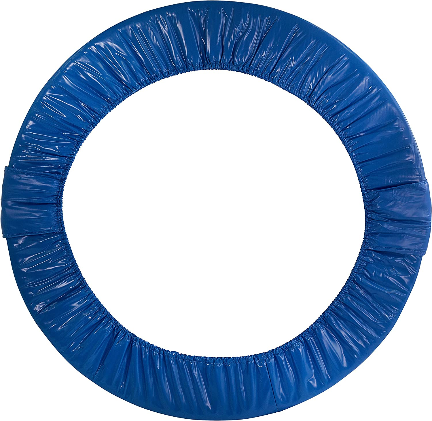 Upper Bounce Round Foldable Trampoline Safety Pad (Spring Cover) for 6 Legs, bluee