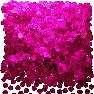 Hot Pink Foil Metallic Round Table Confetti Decor Circle Dots Mylar Table Scatter Confetti Wedding Bachelorette Baby Showe...