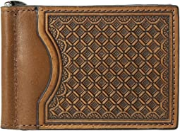 M&F Western - Embossed Tooled Bifold Money Clip Wallet