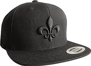 Cap: Fleur de Lis - Lilie - Snapback Flexfit - Basecap - Urban Streetwear - Männer Mann Frau-en - Baseball-cap - Hip-Hop Rap - Mütze - Kappe - Lys - Blume - Retro - Pfadfinder Boy-Scout - 3D Stick