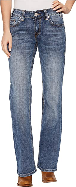 Rock and Roll Cowgirl - Mid-Rise Bootcut in Medium Vintage W1-4599