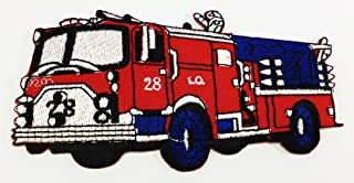 Fire Engine Truck DIY Applique Embroidered Sew Iron on Patch p#52