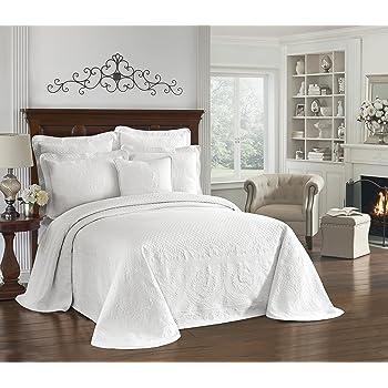 White, King Maine Heritage Weavers Spirit of America Bedspread 184195003449