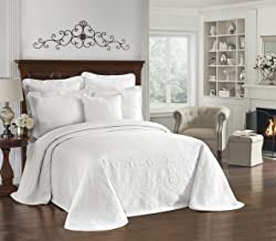 """HISTORIC CHARLESTON Bedspreads Coverlet - King Charles Collection 120"""" x 114"""" Size 100% Cotton Oversized Matelasse Bed Spr..."""