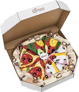 Rainbow Socks, Pizza MIX Caprichosa Vege Pepperoni Mujer Hombre - 4 pares de Calcetines