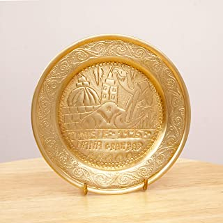 Restored by UKARETRO Plate/Bowl || Camel and Palm Tree and City Design || Vintage Solid Brass || Tunisie 1995 Nana Grandad
