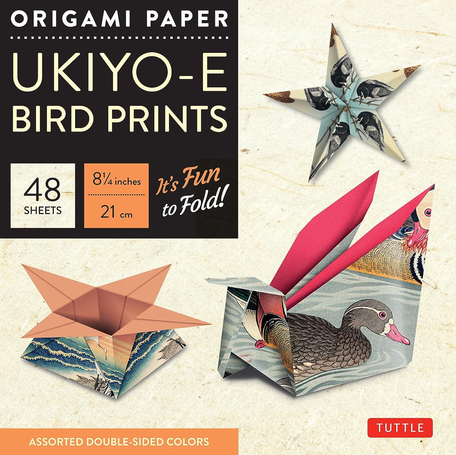 Origami Paper - Ukiyo-e Bird Prints - 8 1/4