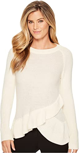 Ivanka Trump - Ruffle Tier Long Sleeve Sweater