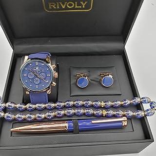 Rivoli Watch Set For Men Analog PU Leather - RV-6190