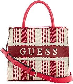 Guess Monique Mini Tote Bag Red Stripe