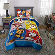 Franco Kids Bedding Super Soft Comforter with Sheets and Plush Cuddle Pillow Set, 5 Piece Twin Size, Paw Patrol