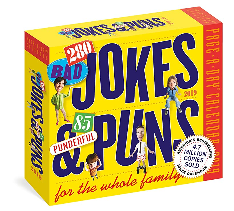 280 Bad Jokes & 85 Punderful Puns Page-A-Day Calendar 2019