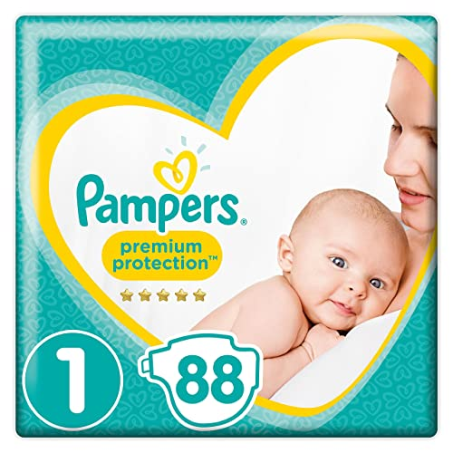 Pampers - New Baby - Couches Taille 1 (2-5 kg) – Lot de 2 packs x44 (88 couches)