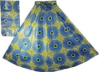 Decoraapparel African Wax Skirts Long Dashiki Maxi Ankara High Waist Skirts One Size