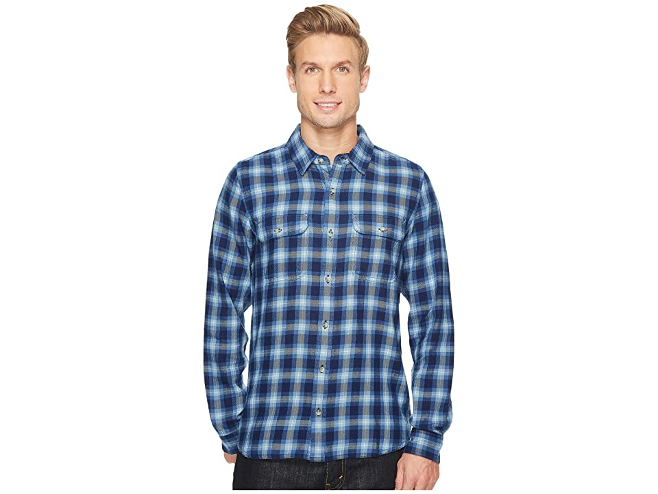 Toad&Co Indigo Flannel Slim Long Sleeve Shirt (Blue) Men