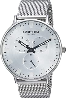 Kenneth Cole Men's Silver Dial Stainless Steel Band Watch - KC14946013