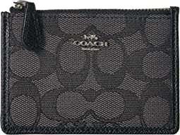 Boxed Mini Skinny ID Case In Signature Jacquard