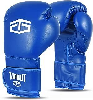tama/ños 4 oz Tapout Guantes de Boxeo at/ómicos de Piel Dura para ni/ños y Adultos 16 oz ** envolturas para Manos Gratis **