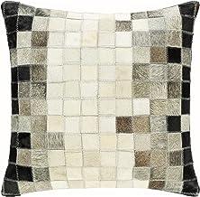 مجموعة وسادة Surya Fort x 45.72 سم، مقاس 45.72 سم × 45.72 سم، بيج، أسود، رمادي داكن