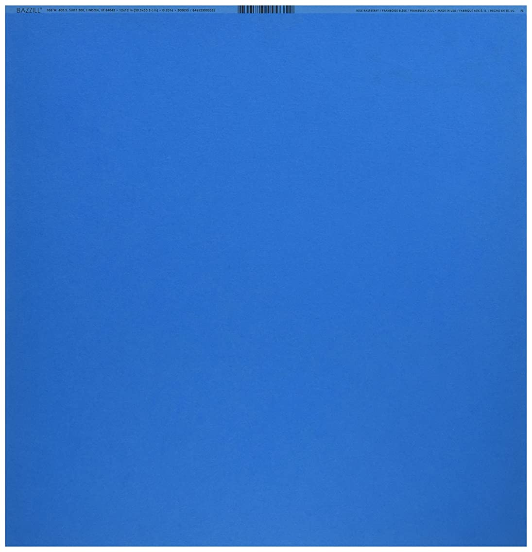 American Crafts Bazzill Basics 12 x 12 Cardstock Pack of 25 Smoothies Blue Raspberry