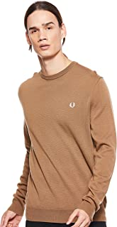 Fred Perry Men CLASSIC CREW NECK SWEATER Pullover Tops