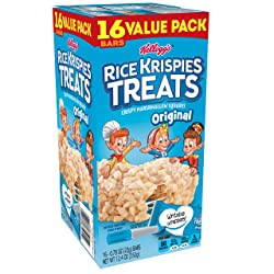 Kellogg's Rice Krispies Treats, Crispy Marshmallow Squares, Original, Value Pack, 0.78 oz Bars (16 C