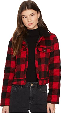 Jack by BB Dakota - Cicily Buffalo Plaid Jacket with Sherpa Collar