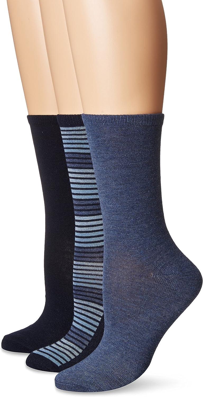 No Nonsense womens Flat Knit Crew Sock
