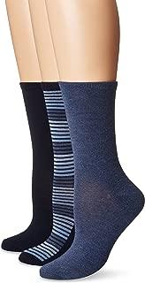 Women's Flat Knit Crew Sock, 3 Pair Pack