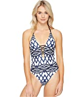 Seafolly - Modern Tribe Deep V Maillot