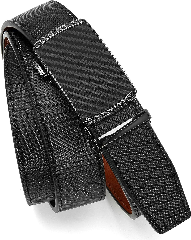 Mens Belt, Chaoren Ratchet Belt Dress with 1 3/8