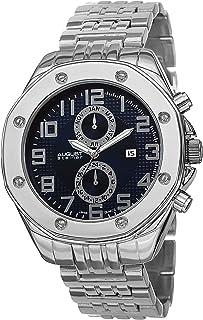 August Steiner Men's Urban Multifunction Watch - Screwed in Bezel around Textured Sunburst Dial with Month of Year, Date, ...