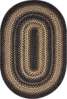 Kilimanjaro Premium Braided Jute Rug by Homespice, 4' x 6' Oval Brown Color, Reversible Imported Jute Yarn, Higher Quality, Longer Lasting, Longer Wear - 30 Day Risk Free Purchase