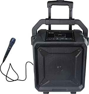 Milanix Tailgate Portable Bluetooth PA Karaoke Speaker with Microphone, USB Charge Port,..
